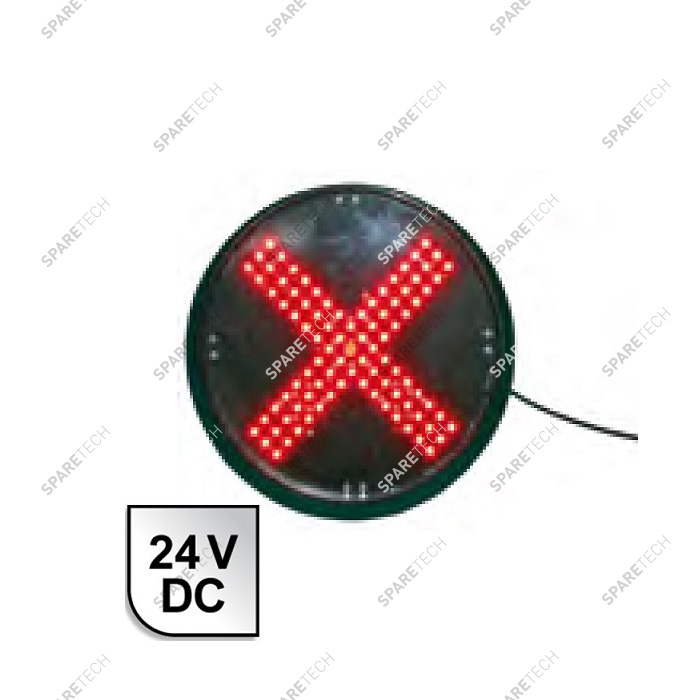 Roten Kreuz LED Ampel 24VDC, D.200mm